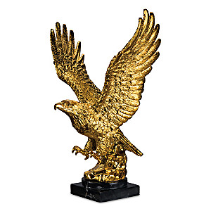 """Triumphant Treasure"" Golden Eagle Sculpture"