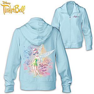 "Disney Tinker Bell ""Sparkle And Believe"" Front-Zip Hoodie"
