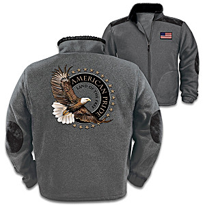 Land Of The Free Men's Fleece Jacket