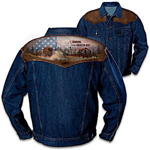 American West Men's Denim Jacket