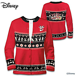 """Disney Christmas"" Women's Cardigan With Side Pockets"
