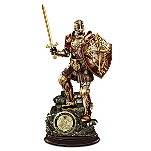 Armor Of God Cold-Cast Bronze Sculpture With Challenge Coin