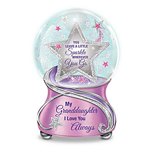 """My Granddaughter, You Sparkle"" Musical Glitter Globe"