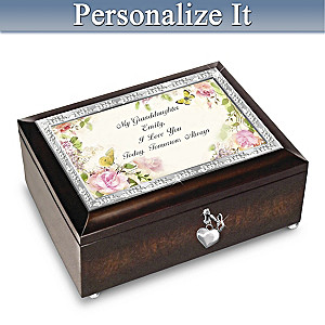 Granddaughter Music Box With Personalized Sentiment