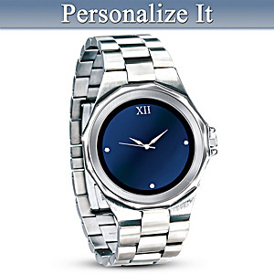 """Strength Of Family"" Personalized Watch For Dad"