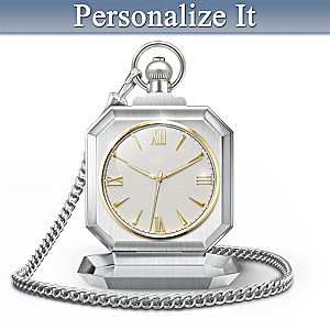 """Timeless Wisdom To My Grandson"" Personalized Pocket Watch"