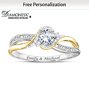 """Love Letters"" Personalized Women's Diamonesk Ring"