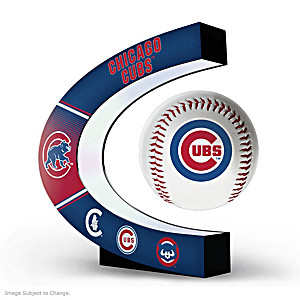 Chicago Cubs Levitating Baseball Lights Up And Spins