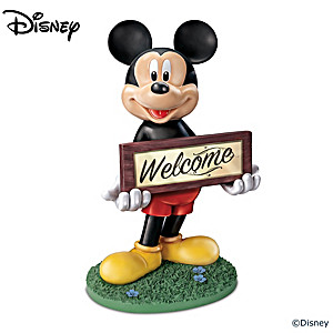 Disney Mickey Mouse Solar-Powered Outdoor Welcome Sign