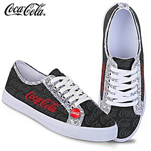 "COCA-COLA ""Ever-Sparkle"" Canvas Shoes With Glitter Trim"