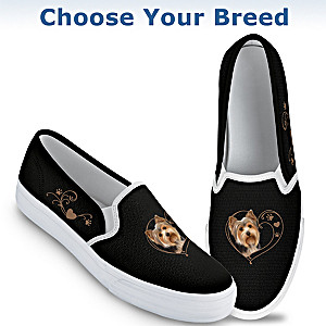 """Paw Prints On My Heart"" Women's Shoes: Choose Your Breed"