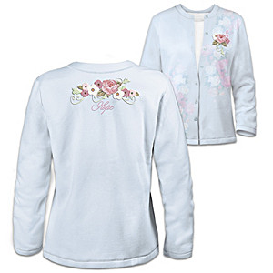 Hope Blooms Embroidered Women's Cardigan