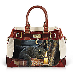 """Witching Hour"" Handbag With Lisa Parker Cat Artwork"