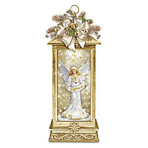 """The Joy Of Inspiration"" Illuminated Angel Snowglobe Lantern"