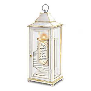 Illuminated Remembrance Lantern With Flameless Candle