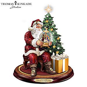 Santa Sculpture With Lights And Thomas Kinkade Narration