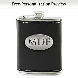 Personalized Stainless Steel Flask With Up To 3 Initials
