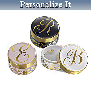 Personalized Monogram Porcelain Music Box: Choice Of Color