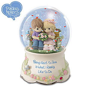 "Precious Moments ""Our Love Is Always"" Musical Glitter Globe"