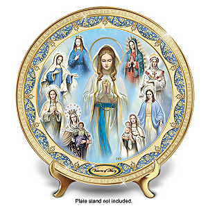 """Hector Garrido """"Visions Of Mary"""" Heirloom Porcelain Plate"""