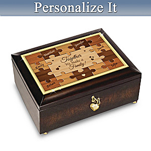 Family Heirloom Music Box Personalized With Up To 7 Names