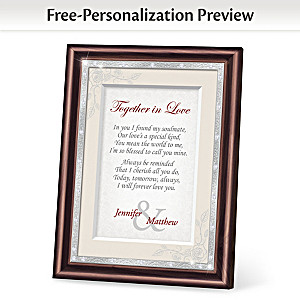 """Together In Love"" Personalized Framed Poem"