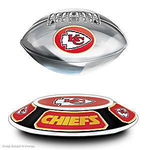 Chiefs Levitating Football Lights Up And Spins