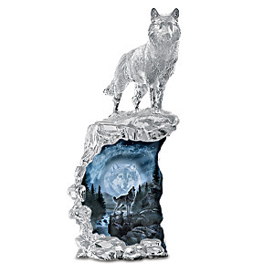 "Al Agnew ""Soul Of The Night"" Illuminated Wolf Sculpture"
