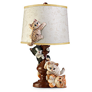 """Cat-Tastrophe"" Sculpted Table Lamp"