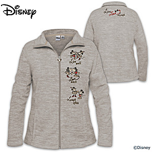 Disney Knit Fleece Jacket With Heart-Shaped Zipper Pull