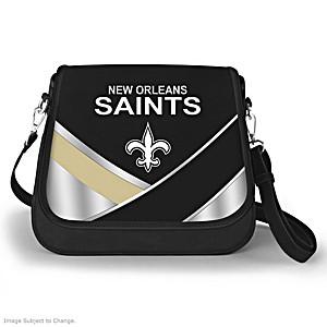 New Orleans Saints Interchangeable Flap Handbag