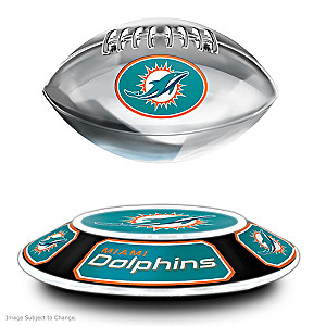Dolphins Levitating Football Lights Up And Spins