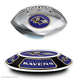 Ravens Levitating Football Lights Up And Spins