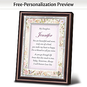 """Daughter, I Love You"" Personalized Framed Poem"