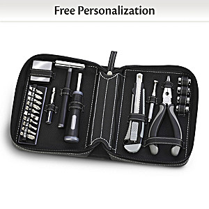 Personalized 21-Piece Tool Kit With Custom Monogrammed Case