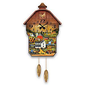 "Eric Dowdle ""Country Charm"" Farm Art Wall Clock"