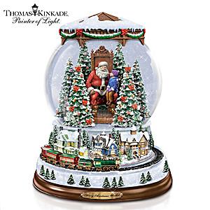 "Thomas Kinkade ""A Visit With Santa"" Illuminated Snowglobe"