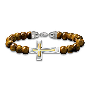 """""""Faith And Protection"""" Tiger's Eye Bracelet For Son"""