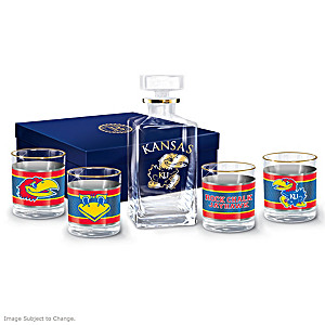 Kansas Jayhawks Five-Piece Glassware Set