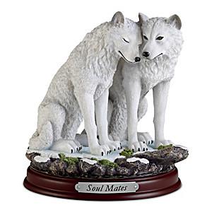 """""""Soul Mates"""" Wolf Sculpture"""
