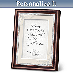 """Together In Love"" Personalized Frame"