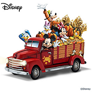 Disney Illuminated Hayride Truck Sculpture