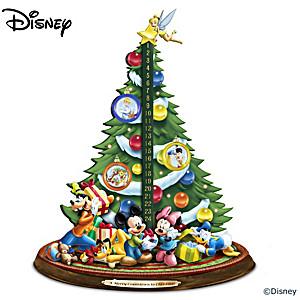 Disney Musical Illuminated Christmas Countdown Tree