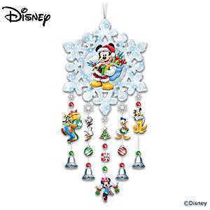 Disney Illuminated Mickey Mouse Snowflake Wreath