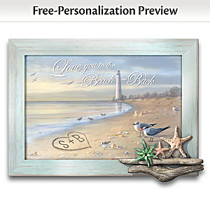 James Hautman Personalized Beach-Motif Wall Art For Couples