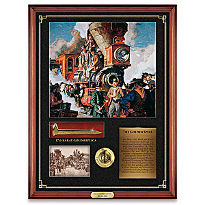 "Dean Cornwell ""Golden Spike 150th Anniversary"" Wall Plaque"