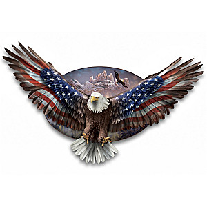 "Ted Blaylock ""Wings Of Freedom"" Patriotic Eagle Wall Decor"