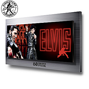 Elvis Presley 68 Comeback Special Illuminated Wall Decor