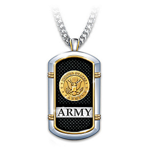 """Strength Of The Army"" 24K Gold-Plated Necklace"