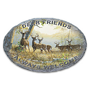 Persis Clayton Weirs Deer Art Indoor Outdoor Welcome Sign